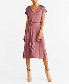 Satin Belted Dress