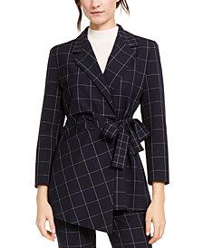 Marella Printed Tie-Waist Blazer