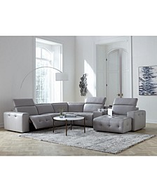 Haigan Leather Sectional Sofa Collection