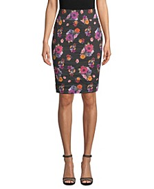 Ruched Jacquard Skirt