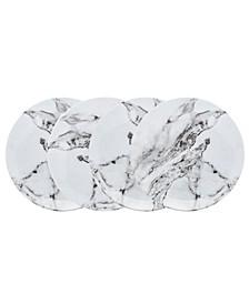 Carerra Marble Melamine Dinner Plates - Set of 4
