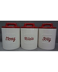 Holiday 3 Piece Canister Set