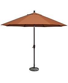 Chateau Outdoor 11' Push Button Tilt Umbrella with Base, Created for Macy's