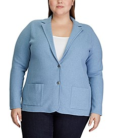 Plus Size Cotton-Blend Jacket