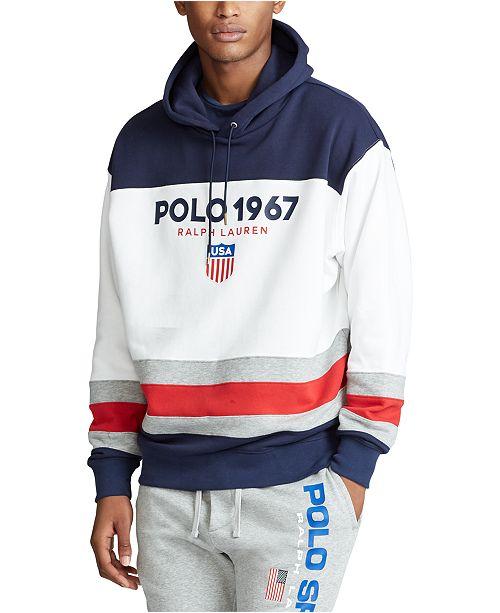 Polo Ralph Lauren Men's Big & Tall Color-Blocked Fleece Hoodie