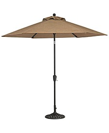 Beachmont II Outdoor 9' Auto-Tilt Patio Umbrella with Base, Created for Macy's
