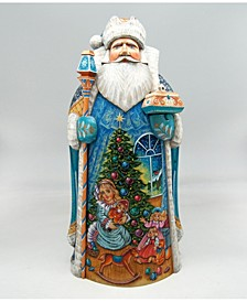 Woodcarved and Hand Painted Nutcracker Clara Santa Claus Figurine