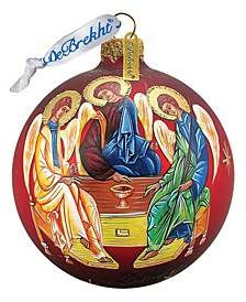 Three Angels Ball Glass Ornament