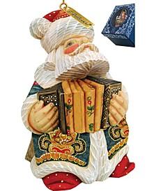 Accordion Santa Ornament