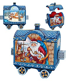 Holiday Express Santa and Surprise Train Box Figurine