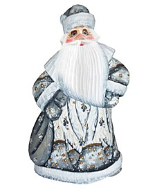 Woodcarved and Hand Painted Ornaments Santa White Figurine