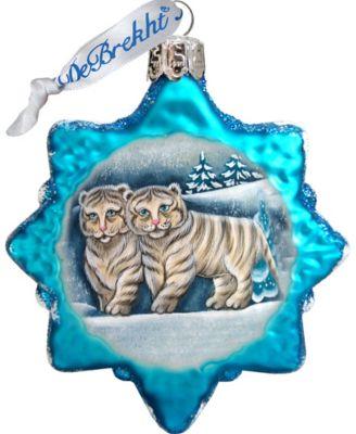 Debrekht Tiger Santa Deco Ornament G