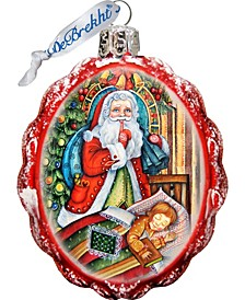 Christmas Night Glass Keepsake Ornament