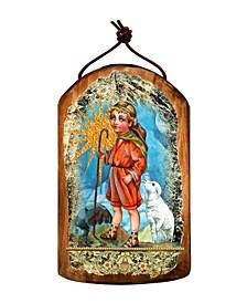 Shepherd Wooden Greek Christian Orthodox Icon Ornament