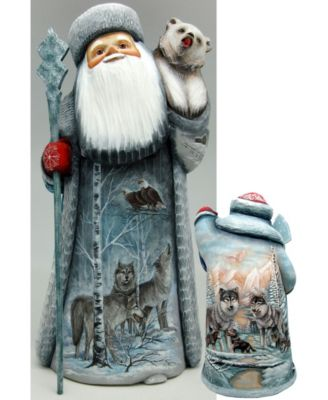 Debrekht Carved Wood and Hand-Painted Star of Hope Santa G 11