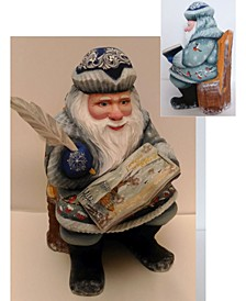 Woodcarved and Hand Painted Story Rider Santa Masterpiece Signature Figurine