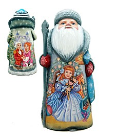 Woodcarved and Hand Painted Nutcracker Clara Santa and Hand Painted