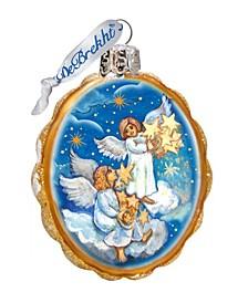 Lighting Stars Angels Glass Ornament