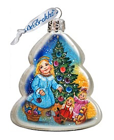 Decorating Tree Glass Ornament