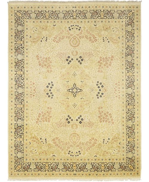 "Timeless Rug Designs CLOSEOUT! One of a Kind OOAK45 Flax 9'1"" x 12'1"" Area Rug"