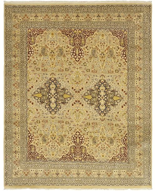 """Timeless Rug Designs CLOSEOUT! One of a Kind OOAK66 Beige 8'1"""" x 10'2"""" Area Rug"""