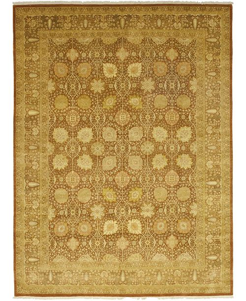 "Timeless Rug Designs CLOSEOUT! One of a Kind OOAK76 Flax 9'1"" x 12'4"" Area Rug"