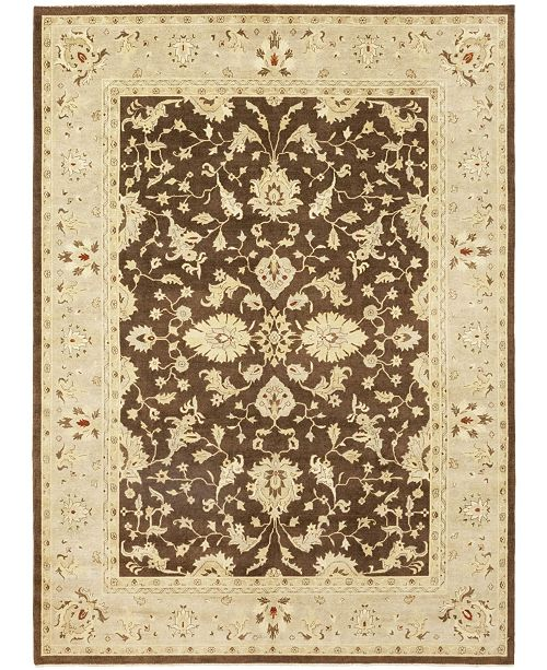 "Timeless Rug Designs CLOSEOUT! One of a Kind OOAK106 Brown 10'3"" x 13'10"" Area Rug"
