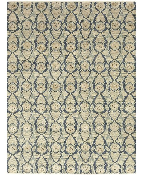 "Timeless Rug Designs CLOSEOUT! One of a Kind OOAK302 Blue 9'2"" x 12'4"" Area Rug"