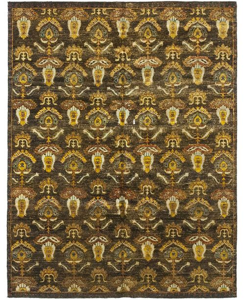 """Timeless Rug Designs CLOSEOUT! One of a Kind OOAK312 Orange 7'9"""" x 9'10"""" Area Rug"""