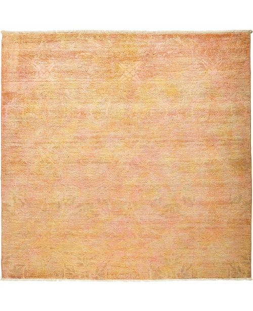 """Timeless Rug Designs CLOSEOUT! One of a Kind OOAK467 Peach 6' x 6'2"""" Area Rug"""