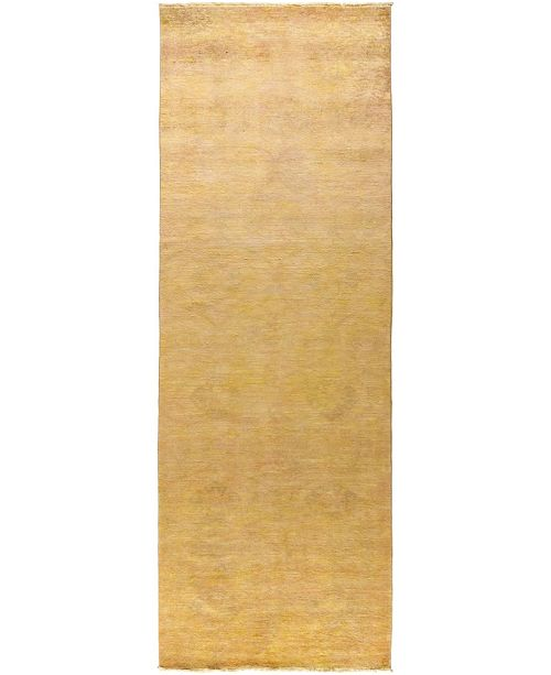 """Timeless Rug Designs CLOSEOUT! One of a Kind OOAK477 Peach 4'2"""" x 12'1"""" Runner Rug"""