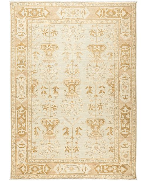 """Timeless Rug Designs CLOSEOUT! One of a Kind OOAK627 Ivory 6'3"""" x 8'8"""" Area Rug"""