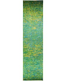 """CLOSEOUT! One of a Kind OOAK822 Lime 4'1"""" x 15'8"""" Runner Rug"""