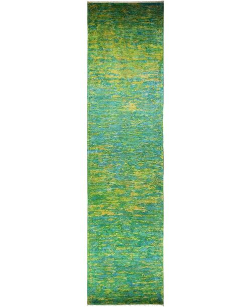 """Timeless Rug Designs CLOSEOUT! One of a Kind OOAK822 Lime 4'1"""" x 15'8"""" Runner Rug"""