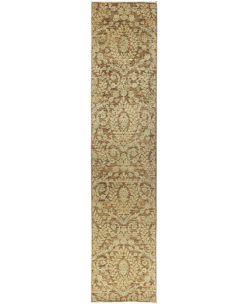 """Timeless Rug Designs CLOSEOUT! One of a Kind OOAK883 Mocha 3' x 13'10"""" Runner Rug"""