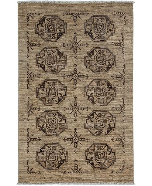 "Timeless Rug Designs CLOSEOUT! One of a Kind OOAK3473 Mocha 3'10"" x 6' Area Rug"