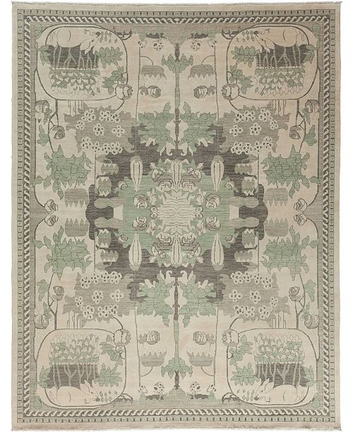 "Timeless Rug Designs CLOSEOUT! One of a Kind OOAK3545 Bone 9'1"" x 11'9"" Area Rug"