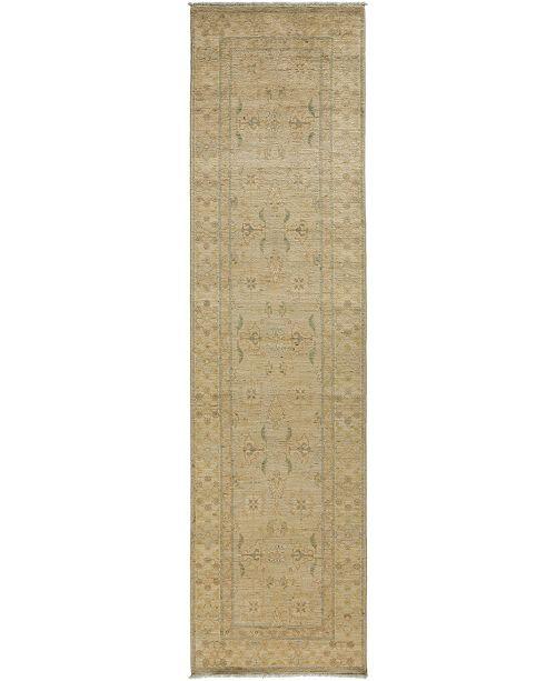 "Timeless Rug Designs CLOSEOUT! One of a Kind OOAK3414 Hazelnut 3'2"" x 11'9"" Runner Rug"