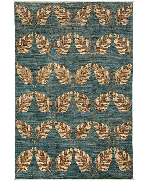 "Timeless Rug Designs CLOSEOUT! One of a Kind OOAK3382 Ocean 6'5"" x 9'9"" Area Rug"