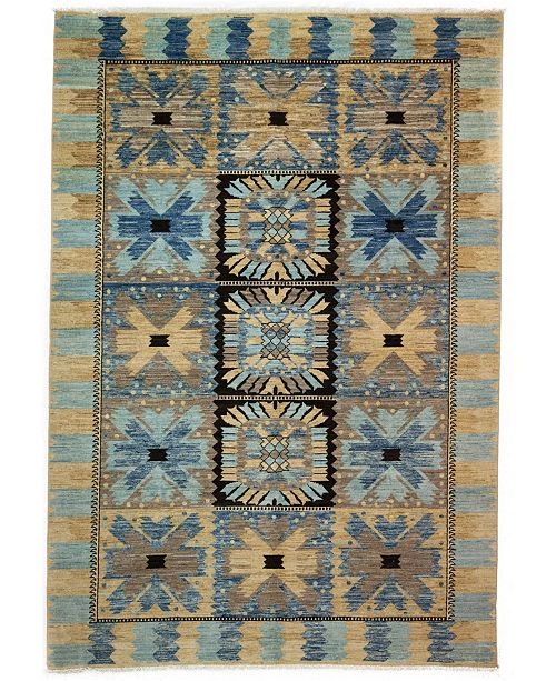 """Timeless Rug Designs CLOSEOUT! One of a Kind OOAK3285 Rust 6'2"""" x 8'10"""" Area Rug"""