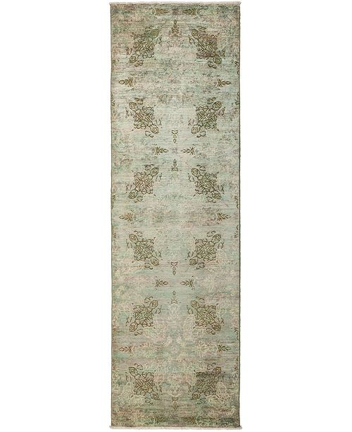 "Timeless Rug Designs CLOSEOUT! One of a Kind OOAK3263 Mocha 2'10"" x 9'10"" Runner Rug"