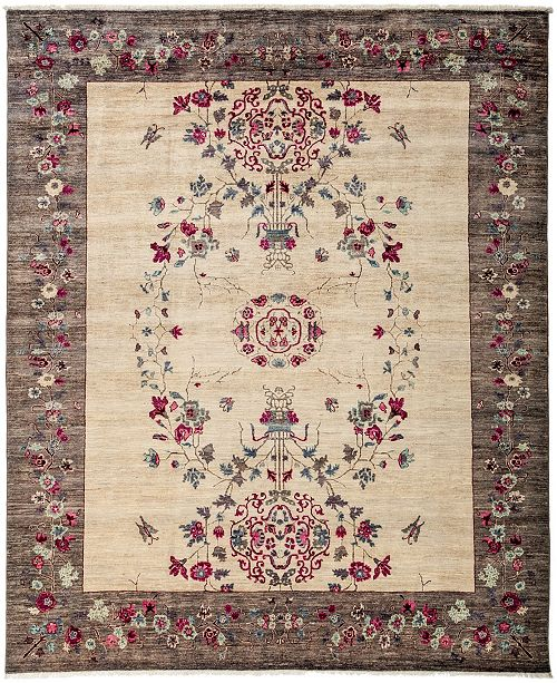 "Timeless Rug Designs CLOSEOUT! One of a Kind OOAK3181 Cream 8'2"" x 9'10"" Area Rug"