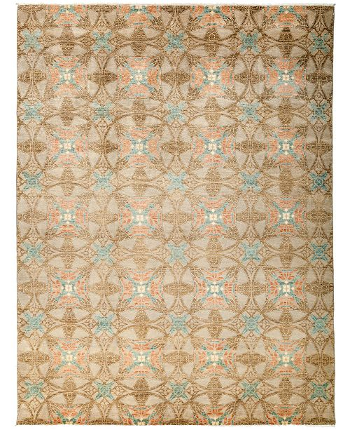 """Timeless Rug Designs CLOSEOUT! One of a Kind OOAK3219 Cocoa 9'1"""" x 12'1"""" Area Rug"""