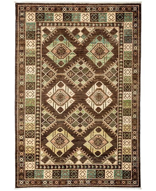 """Timeless Rug Designs CLOSEOUT! One of a Kind OOAK3174 Brown 5'2"""" x 7'7"""" Area Rug"""