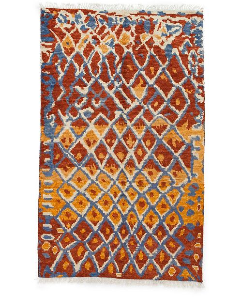 "Timeless Rug Designs CLOSEOUT! One of a Kind OOAK3269 Cinnamon 5'1"" x 8'3"" Area Rug"