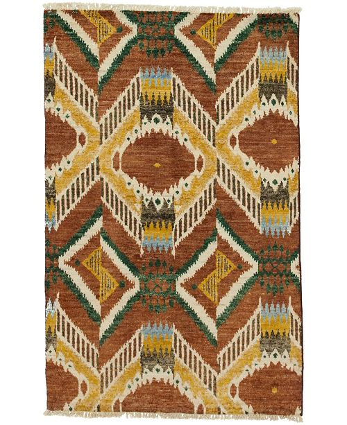 """Timeless Rug Designs CLOSEOUT! One of a Kind OOAK4011 Chestnut 4' x 6'3"""" Area Rug"""
