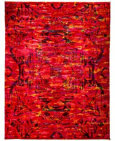 "CLOSEOUT! One of a Kind OOAK3011 Red 8'2"" x 10'1"" Area Rug"