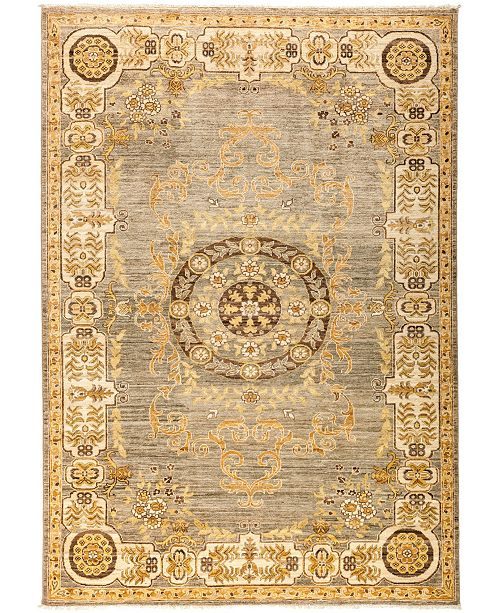 "Timeless Rug Designs CLOSEOUT! One of a Kind OOAK2973 Hazelnut 6'3"" x 8'10"" Area Rug"