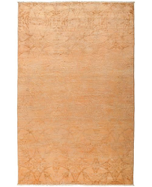 """Timeless Rug Designs CLOSEOUT! One of a Kind OOAK2949 Peach 5'10"""" x 9'1"""" Area Rug"""