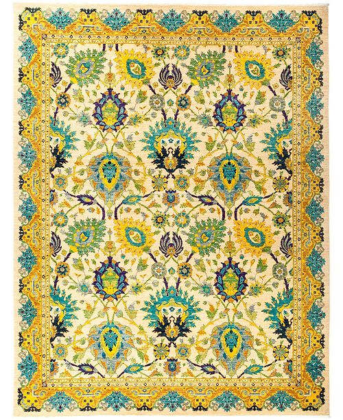 """Timeless Rug Designs CLOSEOUT! One of a Kind OOAK2847 Yellow 8'10"""" x 11'8"""" Area Rug"""